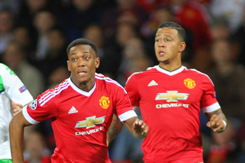 anthony martial memphis depay manchester united