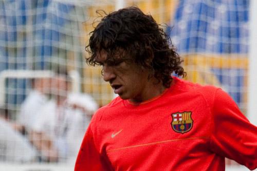 carles puyol fc barcelona training 2