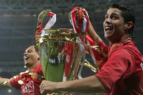 cristiano ronaldo manchester united champions league