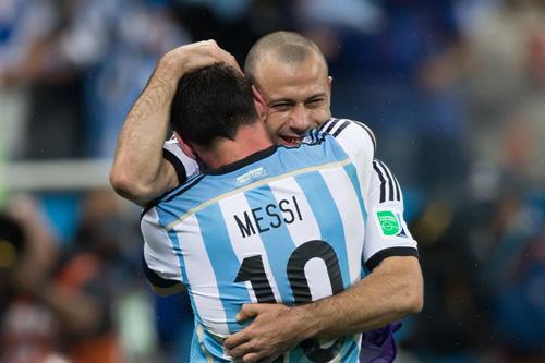 lionel messi javier mascherano argentinien
