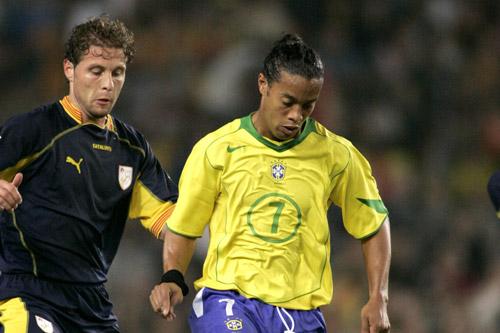 ronaldinho brasilien zweikampf