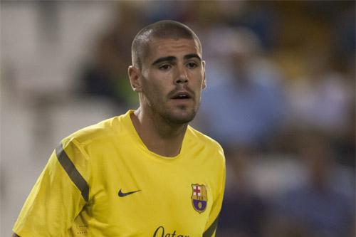 victor valdes fc barcelona kurzes trikot