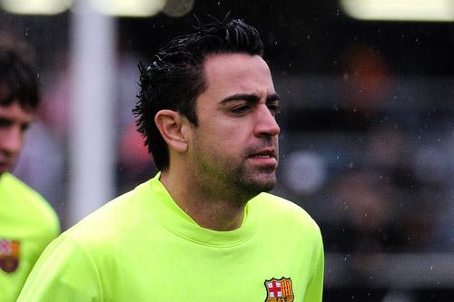 xavi fc barcelona training